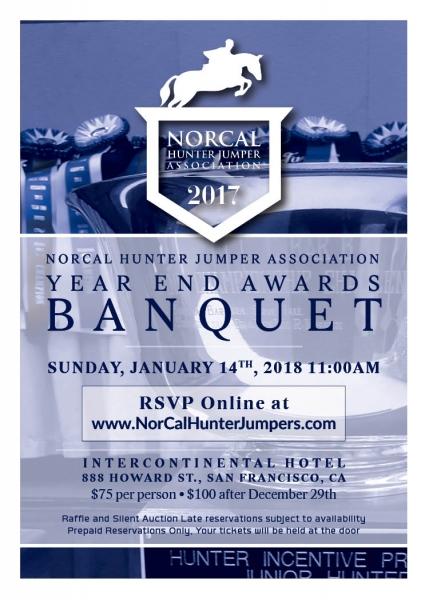 2017 NorCal Year End Awards Banquet Invitation