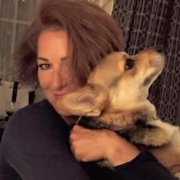 Vanessa Brown and her Corgi
